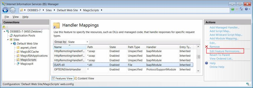 Reference: Configuring IIS 7 to Work with Magic xpa (Magic